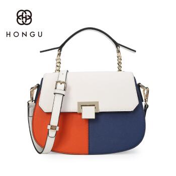 HONGU红谷女包新款女包牛皮单肩包时尚斜挎包牛皮小包包