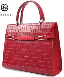 HONGU红谷女包包2018新款个性单肩包 女包牛皮撞色斜挎包