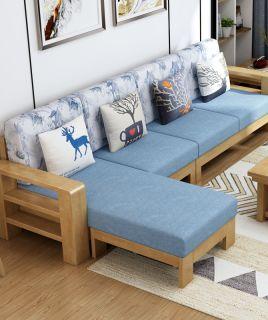禧乐菲全实木沙发组合木质布艺现代简约新中式客厅整装小户型家具